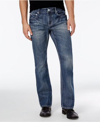 INC International Concepts Men's Boot-Cut Light Wash Jeans, Only at Macy's $49.98 thestylecure.com