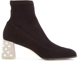 Sophia Webster Felicity crystal-embellished suede ankle boots