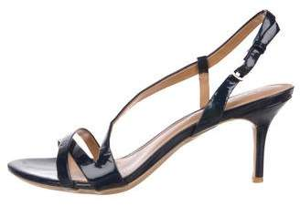 Calvin Klein Patent Leather Ankle Strap Sandals