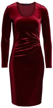 Fraiche by J Ruched Velvet Body-Con Dress
