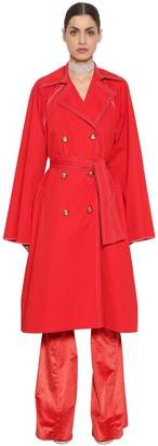 Nina Ricci Stretch Cotton Poplin Coat