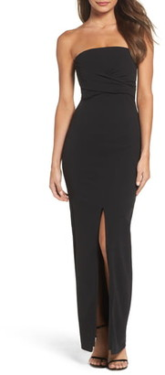 LuLu*s Own the Night Strapless Maxi Dress