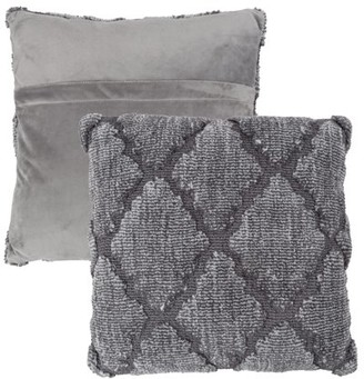 """Geometric Textured Decorative Throw Pillow and Insert- Home Decor Lattice Trellis Accent Pillow with Invisible Zipper, 18"""" by Somerset Home"""