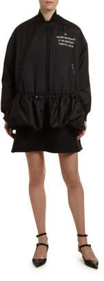 Valentino Techno Zip-Front Jacket