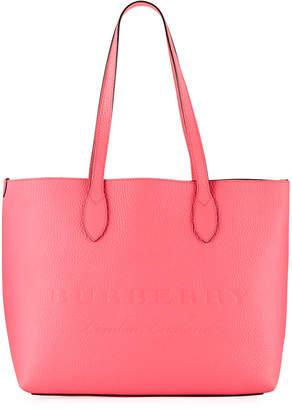 Burberry Remington Large Soft Leather Logo Tote Bag