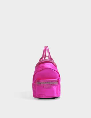 Stella McCartney Satin Falabella Go Mini Backpack in Bright Fuchsia Eco Fabric