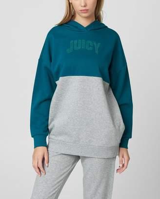 Juicy Couture Rhinestone Juicy Oversized Hoodie