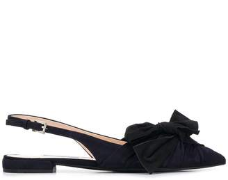 Prada bow detail sling back sandals