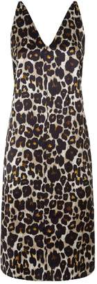 Robert Rodriguez Leopard Print Slip Dress