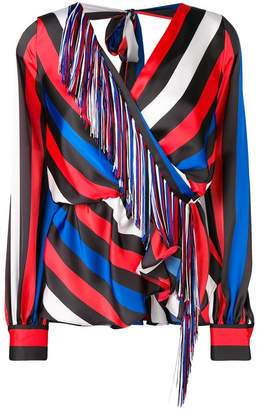 MSGM striped long-sleeve top