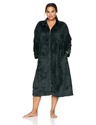 Arabella Women's Plus Size Plush Long Zip Robe