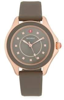 Michele Cape Stainless Steel & Topaz Silicone-Strap Watch