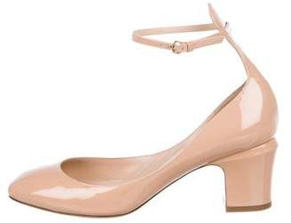 Valentino Tan-Go Patent Leather Ankle-Strap Pumps