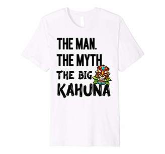 Kahuna The Man The Myth The Big Tiki Bar Mens Dad Gift Tees