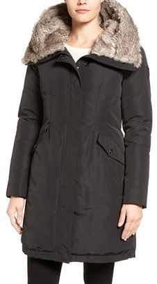 Women's Vince Camuto Faux Fur Trim Hooded Down & Feather Parka $298 thestylecure.com