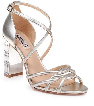 Badgley Mischka Soria Crystal Embellished Block Heel Sandal