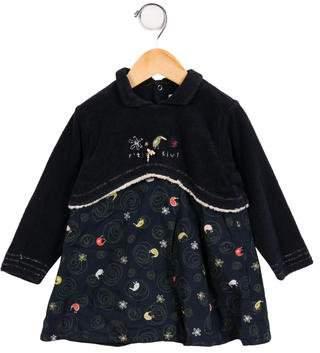 Catimini Girls' Layered Long Sleeve Dress