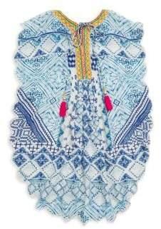 Hemant & Nandita Little Girl's& Girl's Lucian Silk Crepe Tunic Dress
