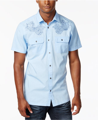 INC International Concepts Embroidered Short-Sleeve Shirt, Only at Macy's $49.50 thestylecure.com
