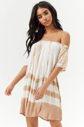 Forever 21 Tie-Dye Off-the-Shoulder Dress