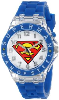 Superman Kids' SUP9049 Watch with Blue Rubber Band