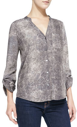 Soft Joie Anabella Snake-Print Blouse