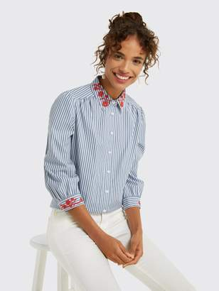 Draper James Embroidered Button Down Top