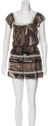 AllSaints Short Sleeve Printed Dress