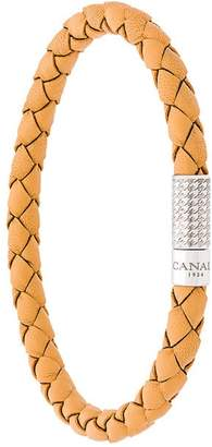 Canali logo plaque woven bracelet