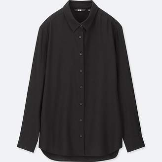 Uniqlo Women's Rayon Long-sleeve Blouse