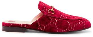 Gucci Princetown velvet backless loafers
