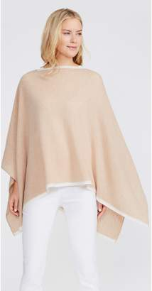 J.Mclaughlin Rale Cashmere Poncho with Contrast Tipping