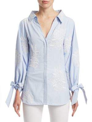 Alice + Olivia Toro Embroidered Shirt