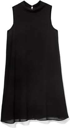 Vince Camuto Flyaway Mock-neck Dress