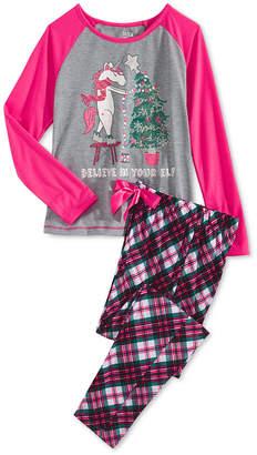Max & Olivia Big Girls 2-Pc. Unicorn Elf Pajama Set