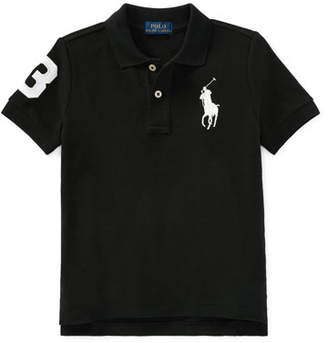 Ralph Lauren Childrenswear Big Pony Mesh Knit Polo, Size 2-3