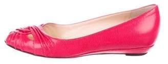 Loeffler Randall Embossed Peep-Toe Flats