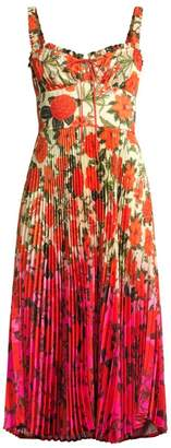 DELFI Collective Amora Floral Ombre Bustier Dress