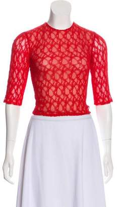Sandra Mansour Lace Long Sleeve Top