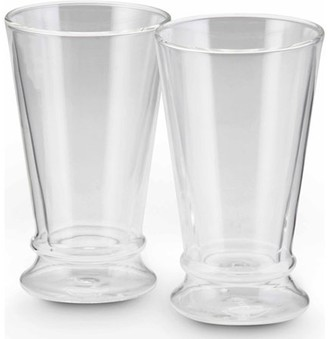 Bonjour 12 oz insulated Latte Cup, Set of 2, Clear