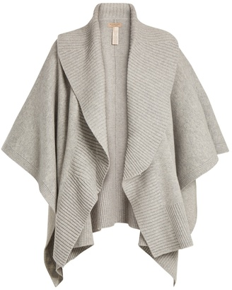 BURBERRY Ribbed-lapel wool and cashmere-blend poncho $723 thestylecure.com