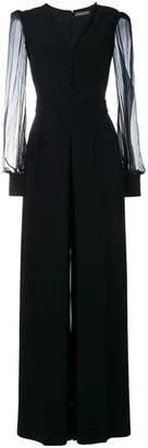 Alexander McQueen v-neck evening jumpsuit