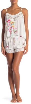 Jonquil In Bloom by Lace Trimmed 2-Piece Cami & Shorts Set