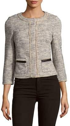 Karen Millen Women's Graphic Tweed Jacket