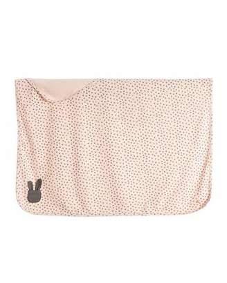 bonniemob Bunny Silhouette Baby Blanket, Pink