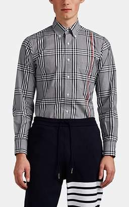 Thom Browne Men's Gingham Cotton Poplin Shirt - Gray