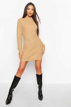 boohoo Rib Knit Jumper Dress