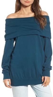 Hinge Off the Shoulder Sweatshirt
