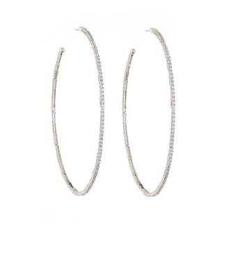 Fallon Armure Pave Macro Hoop Earrings