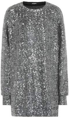Balmain Sequinned metallic dress